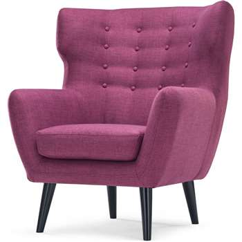 Kubrick Wing Back Chair, Plum Purple (105 x 91cm)