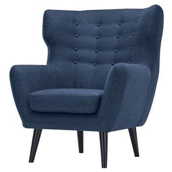 Kubrick Wing Back Chair, Scuba Blue (105 x 91cm)