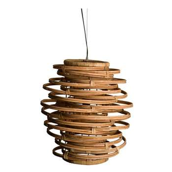 Dutchbone Kubu Rattan Hanging Lamp (Diameter 45cm)