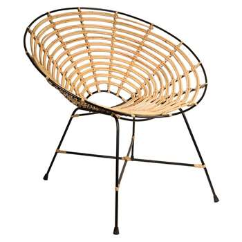 Kubu Rattan Round Lounge Chair