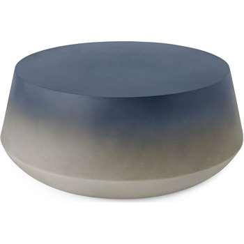 Kugel Garden Coffee Table, Blue Concrete (H56 x W50 x D50cm)