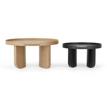 Kulma Nesting Coffee table, Black Stained and Natural Oak (H80 x W40 x D40cm)