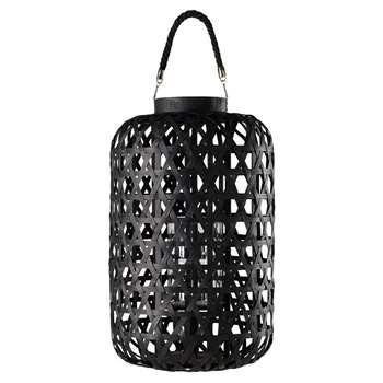 KUMASI Black Woven Lantern (H53 x W31 x D31cm)