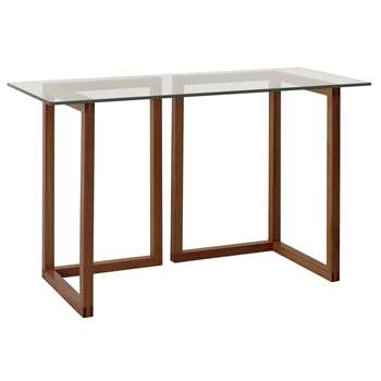 Kusa Small Walnut Desk Trestle
