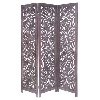 KUTTE - Fretwork Folding Screen (H170 x W135 x D2cm)
