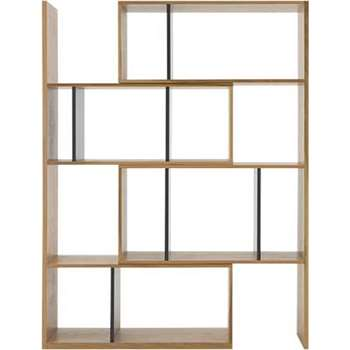 Kya Extending Shelves, Oak and Grey (163 x 90cm)