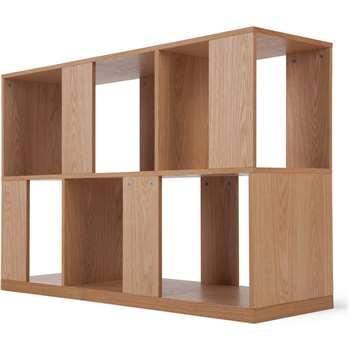 Kya Low Shelves, Oak (84 x 120cm)