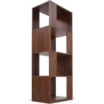 Kya Shelving Unit, Walnut (165 x 60cm)