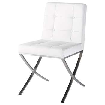 KYOTO Polyurethane and stainless steel chair in white (91 x 47cm)