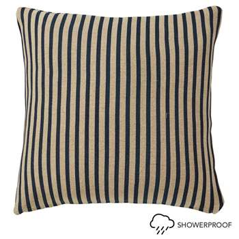 Kyuu Stripe Cushion Cover and Pad, Large - Navy (51 x 51cm)