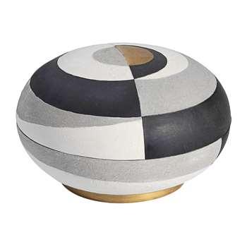 L'Objet - Cubisme Round Box (H15 x W23 x D23cm)
