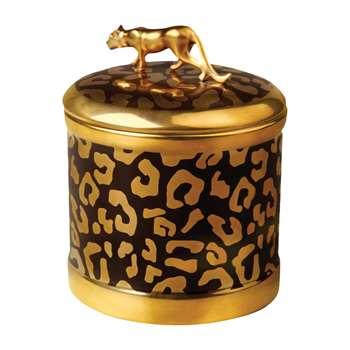 L'Objet - Leopard Candle - Gold (H11 x W10 x D10cm)