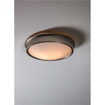 Ladbroke Bathroom Ceiling Light - Satin Nickel (9 x 33.5cm)