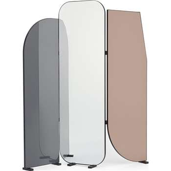 Ladonna Freestanding Screen Mirror, Multicoloured (H171 x W159 x D20cm)