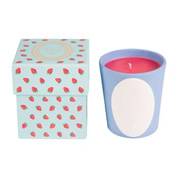 Ladurée - Wild Strawberry Candle - 220g (H10.5 x W9 x D9cm)