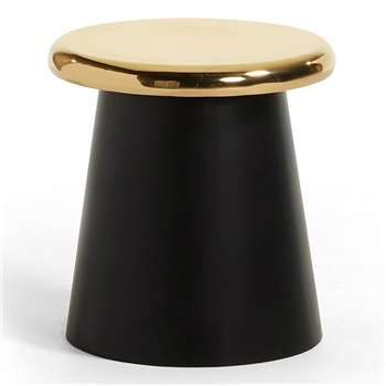 LaForma - Phil Metal Side Table in Black & Brass (H41 x W41cm)