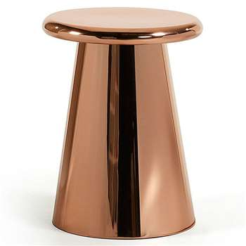 LaForma - Phil Metal Side Table in Copper (H52 x W41cm)