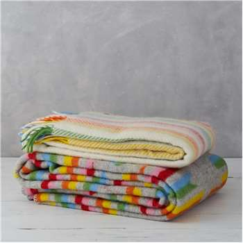 Lala & Bea Hand Woven Pure New Wool Blanket (145 x 183cm)