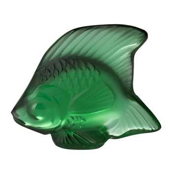 Lalique - Fish Figure - Emerald (Height 4.5cm)