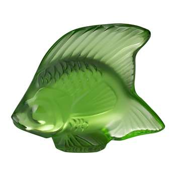Lalique - Fish Figure - Green Meadow (Height 4.5cm)