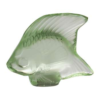 Lalique - Fish Figure - Light Green (Height 4.5cm)