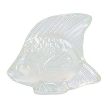 Lalique - Fish Figure - Opalescent Lustre (Height 4.5cm)