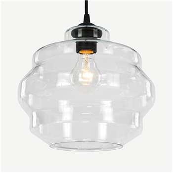 Lamor Lamp Shade, Clear Glass (H22 x W25 x D25cm)