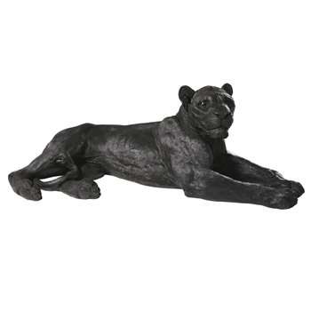LANA - Black Lion Ornament (H39 x W112 x D52.5cm)