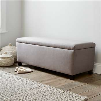 Langley Cotton Ottoman, Grey Cotton (H50 x W140 x D50cm)