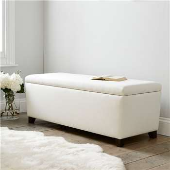 Langley Cotton Ottoman, Pearl Cotton (H50 x W140 x D50cm)