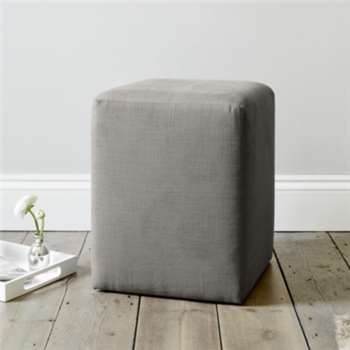 Langley Cotton Stool, Grey Cotton (47 x 37cm)