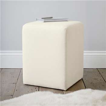 Langley Cotton Stool, Pearl Cotton (47 x 37cm)