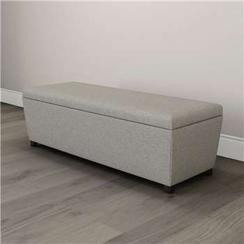 Langley Tweed Ottoman, Tweed Mid Grey (H50 x W140 x D45cm)