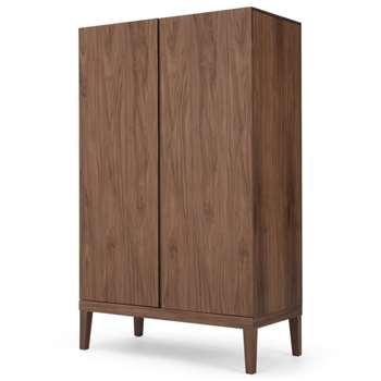 Lansdowne Wardrobe, Natural Walnut (H195 x W120 x D60cm)