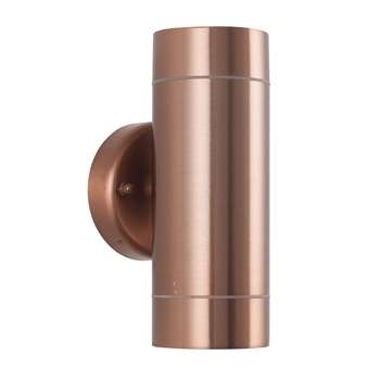 Lantana Outdoor Dual Wall Light Copper (H16 x W8.6 x D6cm)