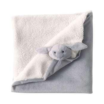 LAPIN child's blanket in grey (65 x 65cm)