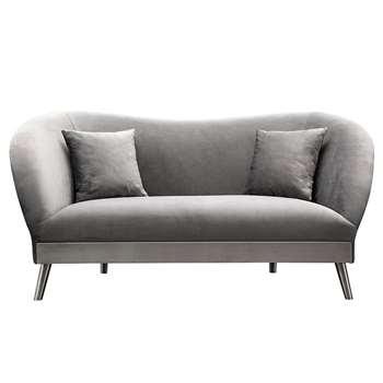 Lapio Two Seat Sofa - Dove Grey (H77 x W170 x D86cm)