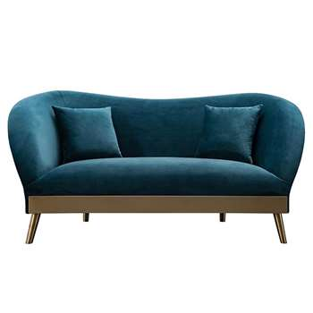 Lapio Two Seat Sofa - Peacock (H77 x W170 x D86cm)