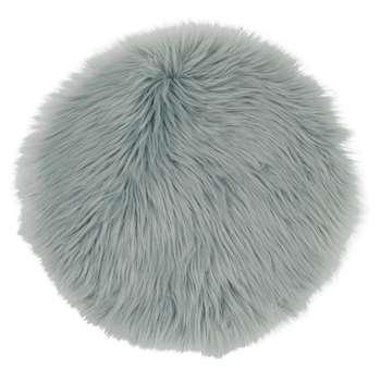 LAPON Blue Grey Faux Fur Chair Pad (Diameter 38cm)