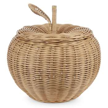 Large Apple Rattan Storage Basket (H43 x W36 x D36cm)