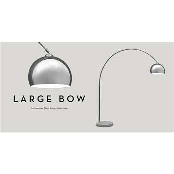 Large Bow Lamp, Chrome (196 x 150cm)