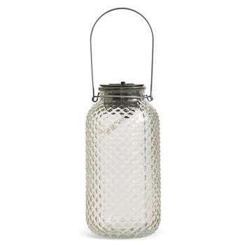 Large Clear Solar Jar Light (21.2 x 11.8cm)