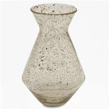 Large Luxe Trumpet Vase - Clear (H35 x W23 x D23cm)