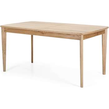 Large Monty Extending Dining Table, Oak (76.5 x 160-210cm)