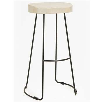 Large Roger Bar Stool - Blonde (H76 x W45 x D34cm)