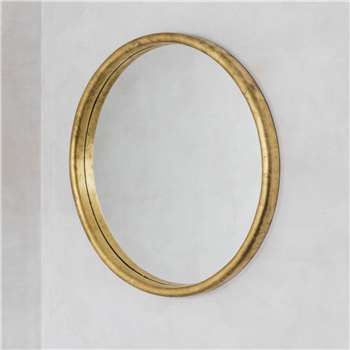 Large Round Gold Foil Mirror (Diameter 90cm)