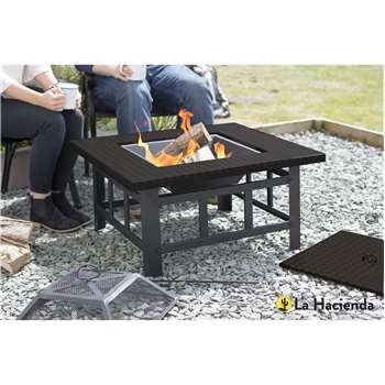 Large Square Firepit Table (38 x 76cm)