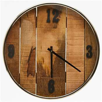 Large Wood Clock (H50 x W50 x D5cm)