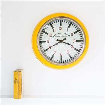 Large Yellow Wall Clock (Diameter 51cm)