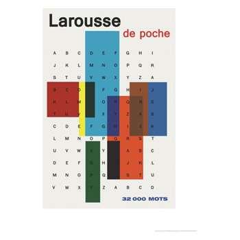 Larousse De Poche 60 x 80cm print by Vintage by Hemingway